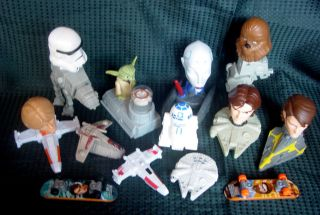 Lot of 13 Different McDonalds STAR WARS Happy Meal Toys