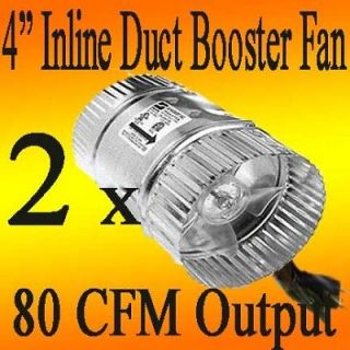 Case of 2 NEW 4 Inline DUCT FAN BOOSTER fan Hydroponic A/C Cooling