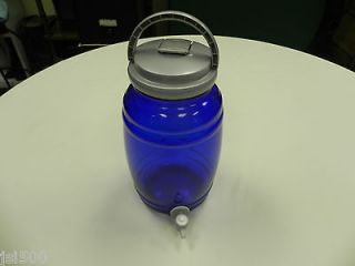 Blue Glass Beverage Dispenser 6 Liter