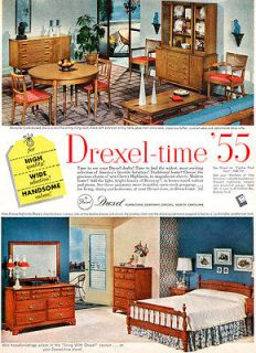 Drexel Furniture BISCAYNE New Cherry Highlands MID CENTURY MODERN 1955