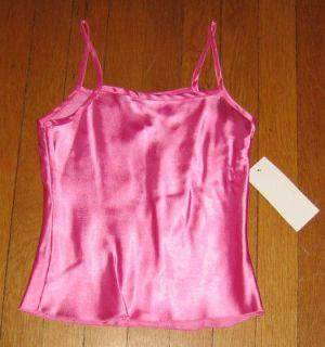 NWT Little Mass Hot Pink Satin Camisole Tank Dress Top
