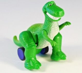 Vintage 1995 Burger King TOY STORY REX the DINOSAUR Pull n Zoom 3