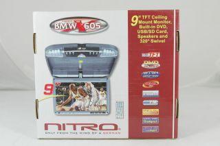 Nitro BMWX 605 9 TFT LCD Flip Down Ceiling Mount Car DVD Player Beige
