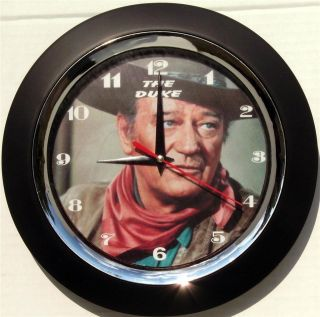 JOHN WAYNE THE DUKE   10 WALL CLOCK