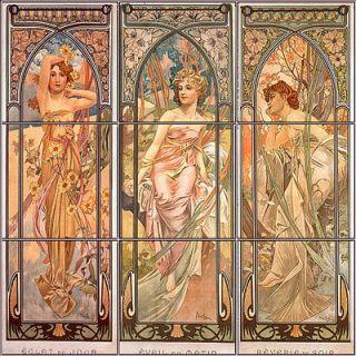 Tile Mural, Art, Ceramic Tile, Backsplash, Bath Wall Decor, Alphonse