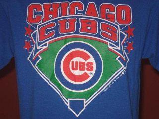 vintage 80s CHICAGO CUBS T Shirt MEDIUM trench mlb baseball super soft