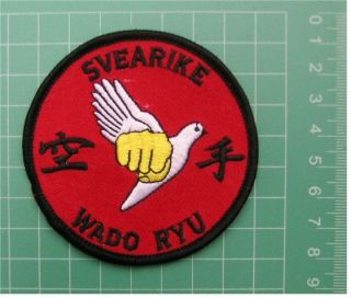 Karate SVEARIKE WADO RYU Embroidered Msrtial Arts Cloth Patch