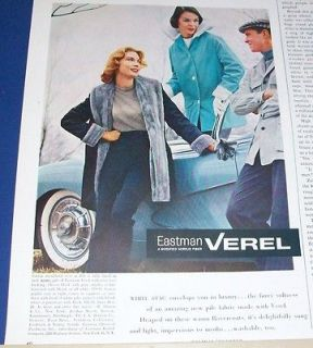 1957 White Stag womens fashion jackets Eastman Verel fabric Ad