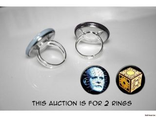 HELLRAISER Pinhead Puzzle Box set of 2 adjustable rings