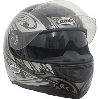 Nitro Style,Oxide DVS,Air Pump Full Face Motorbike Helmet Gunmetal