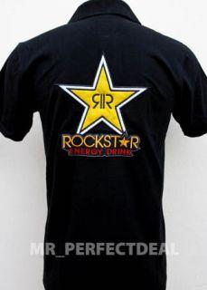 Rockstar Energy Drink Racing Car motor Spotrs Polo   Shirt