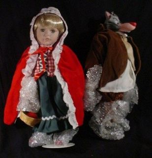 Duck House Doll LITTLE RED RIDING HOOD & BIG BAD WOLF 2 DOLLS IN BOX