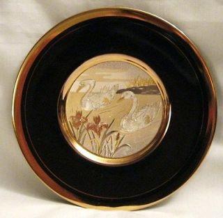 JAPANESE CHOKIN GOLD GILDED PLATE