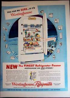 1949 Westinghouse Aristocrat Refrigerator vintage ad