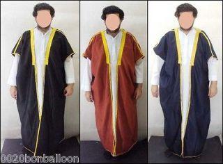 Arabian Men Saudi Gulf Wedding Eid Abaya Thobe Galabeya Muslim Jilbab