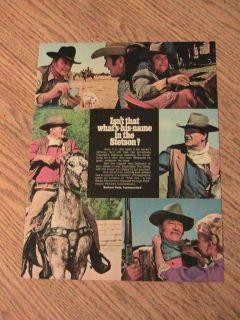 WAYNE ADVERTISEMENT STETSON HAT AD ELDORADO MOVIE STAR COWBOY CARDS