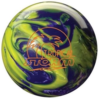11 lb Tropical Storm Bowling Ball Yellow/Purple Undrilled New In Box