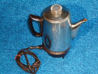 VINTAGE GENERAL ELECTRIC ELECTRIC PERCOLATOR COFFEE MAKER 15P31