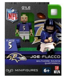 Joe Flacco Oyo Mini Fig Figure Lego Compatible Baltimore Ravens NIP