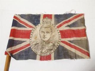 KING EDWARD VIII Flag on Stick CORONATION NEVER HAPPENED