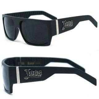 Locs Mens Cholo Biker Sunglasses   Matte Black LC74