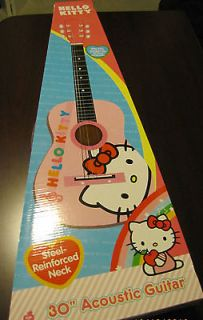 NEW HELLO KITTY KIDS 30 INCH ACOUSTIC GUITAR #8809