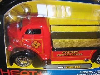 Jada Dub 1:24 1947 Ford Coe County Fire & Rescue Truck Red