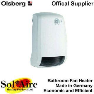 2000W Olsberg Electric Bathroom Fan Heater 2000 Watt Wall Mounted