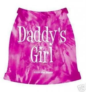 Dog Clothes Daddys Girl Tank sizes for 1 to 40 Pounds tee shirt