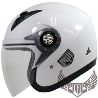 Jet Pilot Motorcycle DOT Helmet Scooter Moped Vespa Quad Open Face ~ M