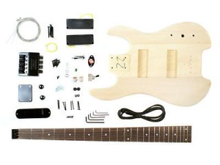 Unfinished Headless Electric Bass Guitar Kit DIY Project   New Make