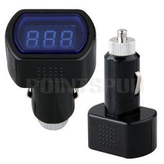 LED Car Battery Electric Cigarette Lighter Voltmeter Voltage Meter DC