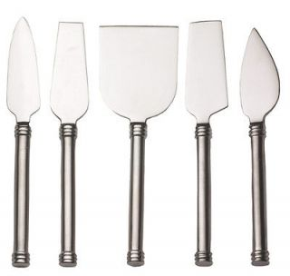 of 5 Cheese Knives Stainless Steel Cutter Slicer Serving Tool Set NEW
