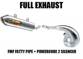 FULL FMF FATTY PIPE EXHAUST AND POWERCORE 2 SILENCER 95 1995 YAMAHA
