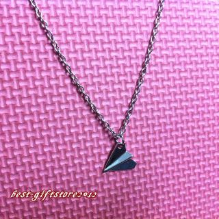 SALE One Direction Harry Styles Paper Plane Necklace Airplane #BB16