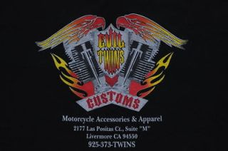 TWIN ENGINE SHIRT EVIL TWINS CUSTOMS EASY RIDER BIKER CH OPPER