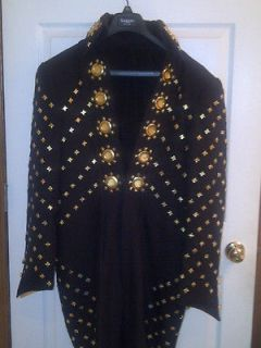Professional Elvis Presley Black Butterfly Jumpsuit, Belt & Cape
