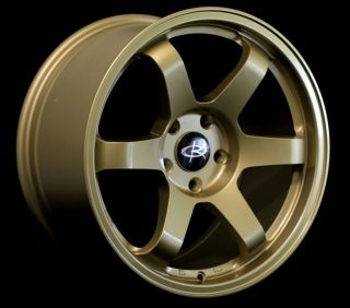 17X9.0 ROTA GRID WHEELS 5X114.3 RIMS 42MM GOLD