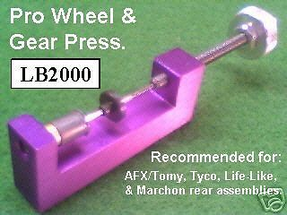 Pro Wheel and Gear Press For HO Scale Slot Cars