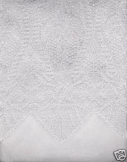 New Beautiful Elegant SHEER & LACE 2 Panels Curtains/Curta in Set