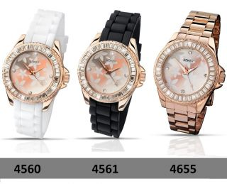 Seksy Sekonda Party Time Rose Gold Crystal Stones Ladies Watch