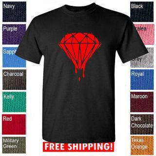 new Diamond t shirt bleeding diamond crewneck shirt Lil wayne, Drake