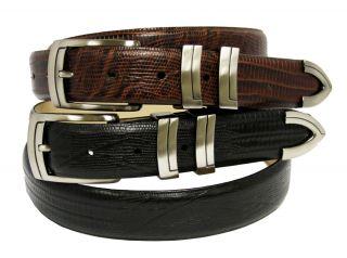 Mens Dress Belt ,Golf Belts Lizard Print Calf Skin Leather Belt New