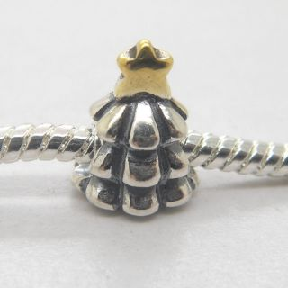 Authentic 925 Silver Threaded Core two Tone Christmas Tree CHARM AFS22