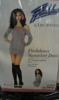 NEW Sexy Womens Sports Costume Flashdance Sweatshirt Dress Small