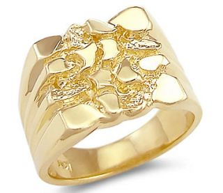 mens gold nugget ring in Gold (w/o Stone)