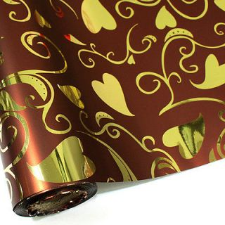 ] LOVE HEARTS GIFT WRAPPING PAPER ROLL 72 ft 22 metres
