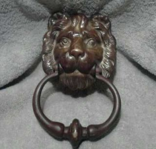 Newly listed Vintage Large Brass LION HEAD Door Knocker Heavy