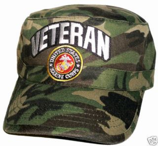 VETERAN US Marine Corps Camo Fatigue Cap Hat FREE SHIP
