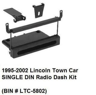 1995 96 97 98 99 00 01 2002 Lincoln Town Car SINGLE DIN Radio Dash